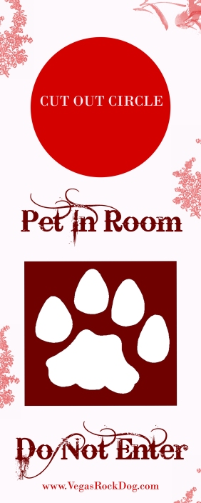 Pet In Room Door Hanger